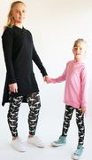 Flamingo leggins, black