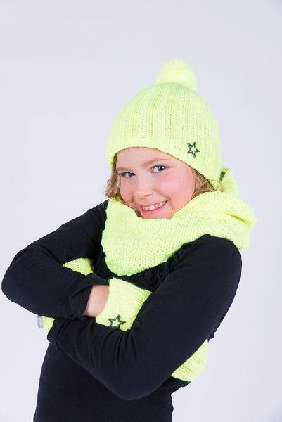 Tubescarf with fleece lining, bright yellow